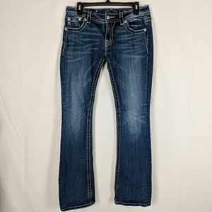 Miss Me Jeans Signature Boot Cut Embellished Pock
